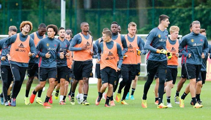 тренировка бельгийцев накануне Чемпионата Мира