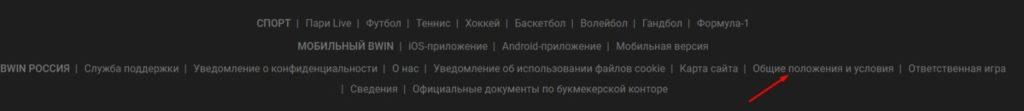 """Навигация сайта """"Бвин"""""""