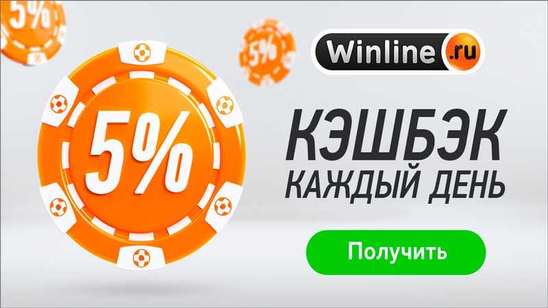 Winline вернет 5% от депозита в качестве кэшбэка