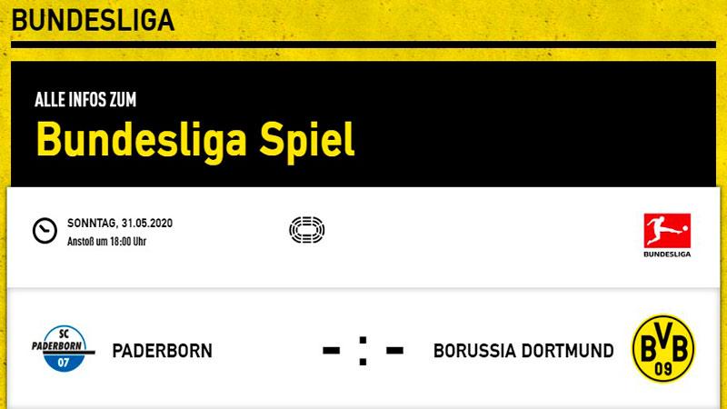 Падерборн — Боруссия Д: прогноз на матч 31 мая 2020