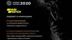 Parimatch выиграл две награды на ежегодной премии спортивного маркетинга MARSPO AWARDS 2020